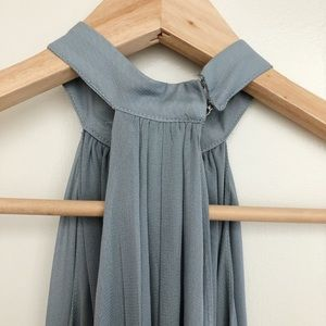 Reformation Dresses - Reformation Isabel Blue-Grey Sheath Dress in Cloud